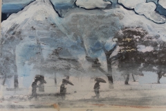 """Detail from """"Mountain, trees, clouds"""""""